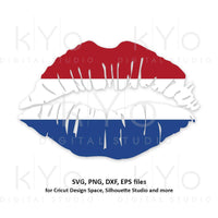 Netherlands flag Girl Lips svg Holland flag lips svg Dutch flag lips svg files for Cricut Silhouette png Clipart Vector dxf Cutting file-kYoDigitalStudio