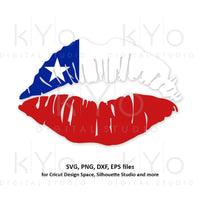 Chilean Girl Lips svg Chile flag lips svg South America svg Chilean flag svg files for Cricut Silhouette png Clipart Vector dxf Cutting file-kYoDigitalStudio