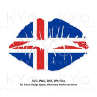 Iceland flag Girl Lips svg Icelander shirt svg Icelander flag shirt svg files for Cricut Silhouette png Clipart Vector dxf Cutting file-kYoDigitalStudio
