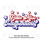 Little Miss Independent svg Fourth 4th of July svg Patriotic baby girl shirt svg Independence Day shirt svg files for Cricut Silhouette dxf-kYoDigitalStudio
