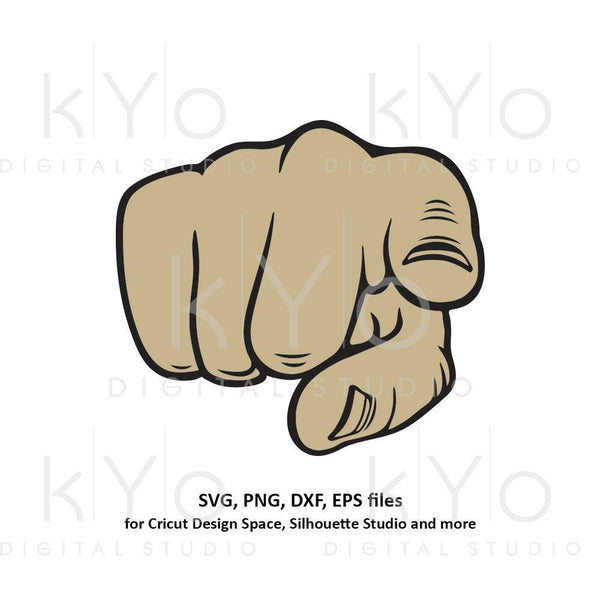 Pointing Finger svg Fist svg Uncle Sam svg Kids shirt svg dxf png eps files for Cricut Silhouette Brother-kYoDigitalStudio