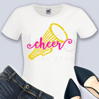 Cheer Megaphone svg png dxf eps files Cheer mom svg Distressed cheer leader shirt svg files for Cricut Design space Silhouette Studio-kYoDigitalStudio