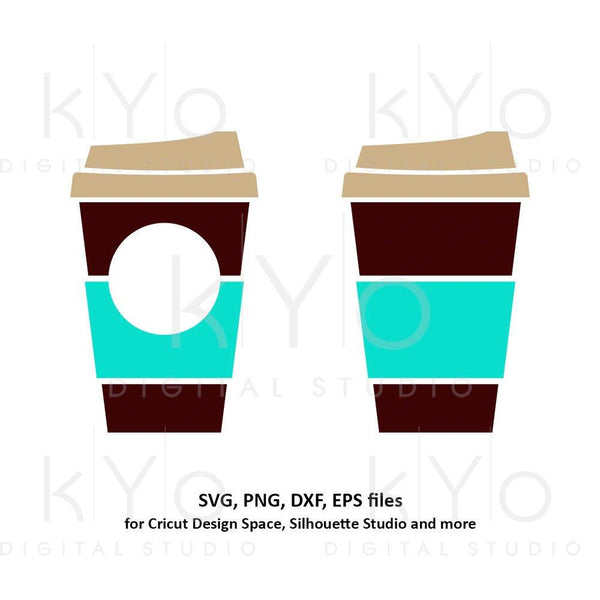 Coffee cup svg Travel mug take out cup Plain coffee mug Paper cup svg Coffee monogram svg dxf png clipart files for Cricut Silhouette-kYoDigitalStudio