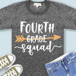 Forth grade squad svg png dxf eps files 4th grade shirt svg Back to school svg Squad shirt svg for Cricut Design space Silhouette cut files-kYoDigitalStudio