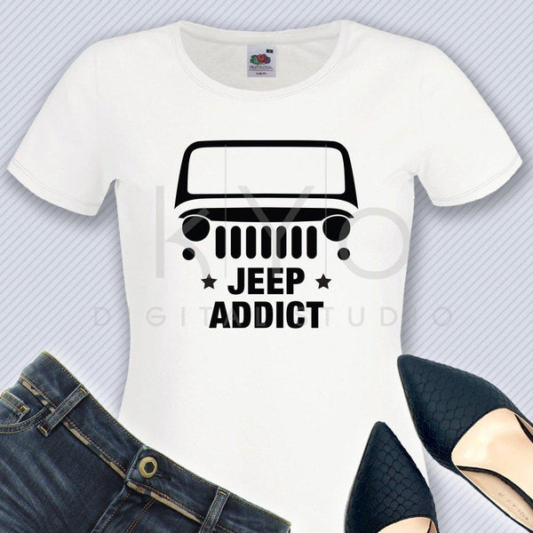 Wrangler Jeep Addict svg American jeep silhouette svg Jeep Wrangler shirt design svg Off road 4x4 svg files for Cricut Silhouette cut files-kYoDigitalStudio