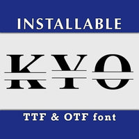 Roman Split Monogram ture type font in TTF and OTF format, Installable Cricut monogram font, Cricut font, Silhouette font, typing font-kYoDigitalStudio