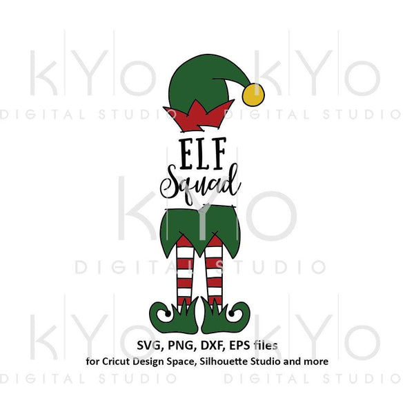 Elf squad svg, Christmas svg files, Elf hat svg, Elf legs svg, Cute elf svg files for Cricut Silhouette Christmas dxf files Elf clipart-kYoDigitalStudio