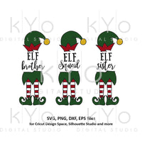 Elf sister svg, Elf brother svg, Elf squad svg, Christmas svg files, Elf hat legs shoes svg bundle, svg files for Cricut Silhouette dxf file-kYoDigitalStudio
