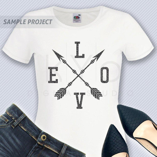 Love arrow svg, Love cross arrows svg, Love svg, Love shirt design svg, Tribal svg files for Cricut, Silhouette files, commercial use svg-kYoDigitalStudio