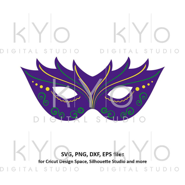 Mardi Gras svg Carnival mask svg Mask template svg Eye cover svg Mardi gras parade mask svg files for Cricut Silhouette Cameo files-kYoDigitalStudio