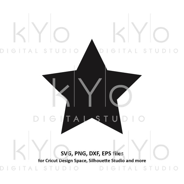 Star shape svg files Basic shapes svg files for Cricut and Silhouette cutting files Cameo files Instant download commercial use svg-kYoDigitalStudio