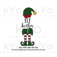 Elf brother svg, Christmas svg files, Elf hat svg, Elf legs svg, Cute elf svg files for Cricut Silhouette Christmas dxf files Elf clipart-kYoDigitalStudio