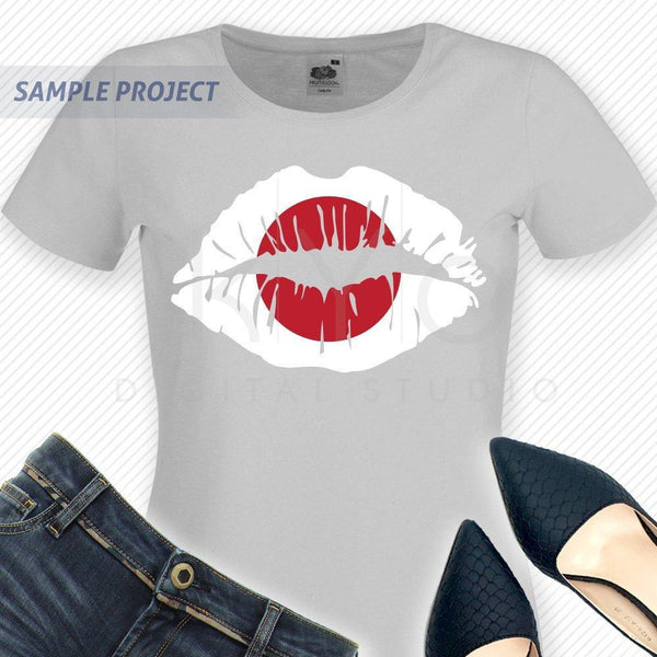 Japan flag Girl Lips svg Japanese shirt svg Japanese flag shirt svg files for Cricut Silhouette png Clipart Vector dxf Cutting file-kYoDigitalStudio
