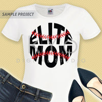 Baseball svg Elite mom svg Baseball mom svg Baseball stitches svg Baseball shirt design svg cut files for Cricut Silhouette dxf files-kYoDigitalStudio