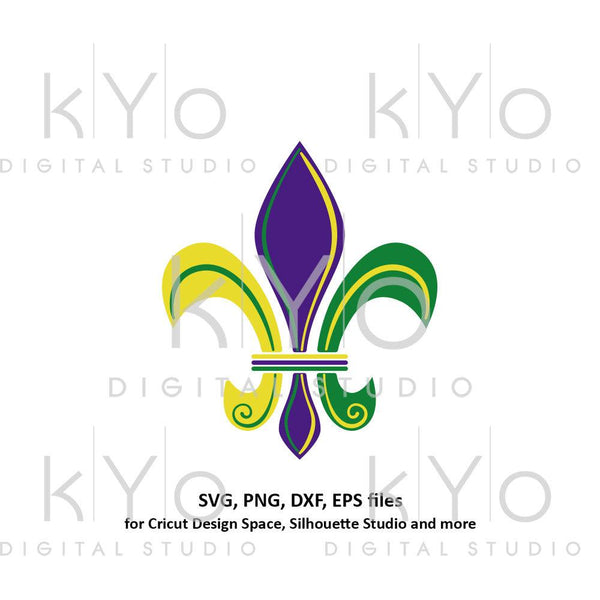 Mardi Gras svg Fleur de lis svg Carnival svg Lily svg, clipart png files, svg files for Cricut Commercial use svg Silhouette Cameo files-kYoDigitalStudio