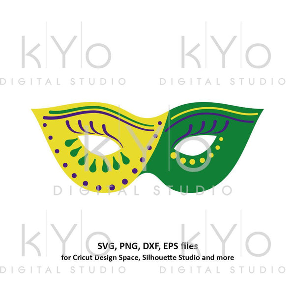 Mardi Gras Carnival mask svg Eye mask template svg Eye cover svg Mardi gras parade mask svg files for Cricut Silhouette Cameo files-kYoDigitalStudio