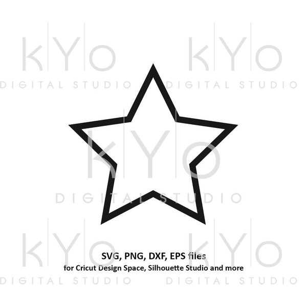 Star shape outline svg files Basic shape svg files for Cricut and Silhouette cutting files Cameo files Instant download commercial use svg-kYoDigitalStudio