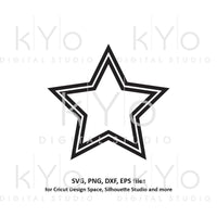Star shape double outline svg file Basic shape svg files for Cricut and Silhouette cut files Cameo files Instant download commercial use svg-kYoDigitalStudio
