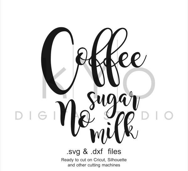 Coffee SVG files, Coffee lettering, Coffee printable design svg, Coffee mug cup, Typography quote svg, Cricut Silhouette svg file-kYoDigitalStudio