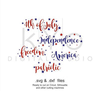 4th of July SVG cutting file Independence Day words SVG Patriotic svg files svg files for Cricut Silhouette Cameo files Fourth of July svg-kYoDigitalStudio