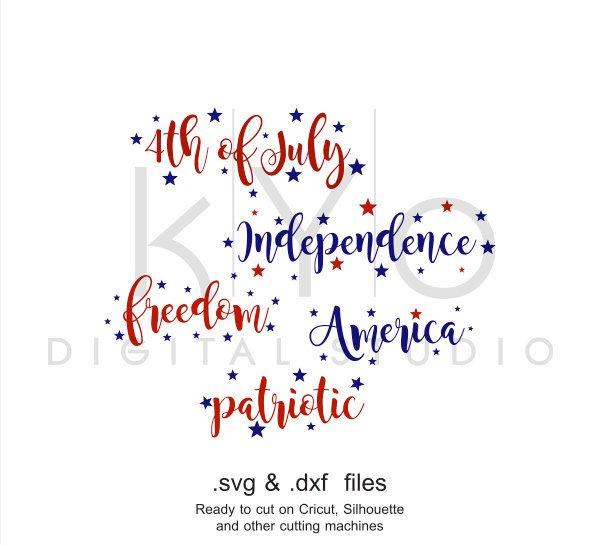 4th of July shirt design SVG cutting file bundle-kYoDigitalStudio