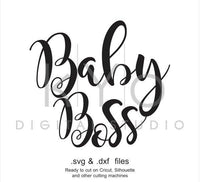 Baby Boss SVG DXF cut print file, Baby Boss mug Tshirt, printable design svg, Baby Boss cut file, Boss svg mug, Cricut svg, Silhouette svg-kYoDigitalStudio