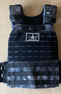 Tactical Weight Vest (Black Mamba snake print)