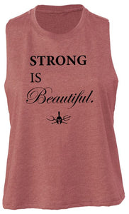 """Strong is Beautiful"" Mid-Crop Tank Top"