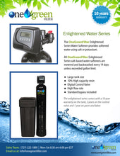 Load image into Gallery viewer, The Enlightened Water Salt-Based Softener