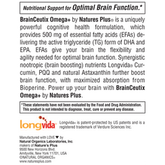 BrainCeutix Omega+ Softgels Product Features