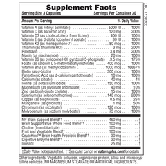 BrainCeutix MULTI Capsules Supplement Facts