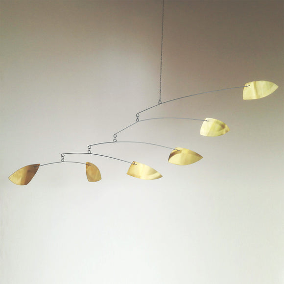 brass hanging mobile scandi style midmod style