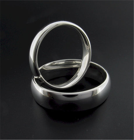 Traditional court wedding rings in gold, platinum or silver