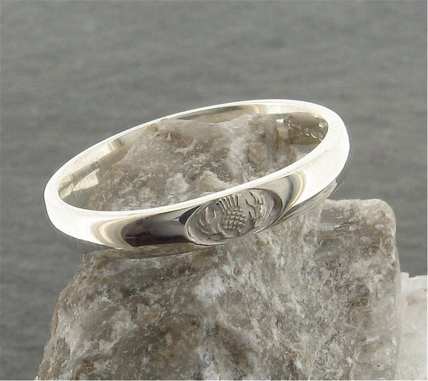 Scottish 3mm silver wedding ring
