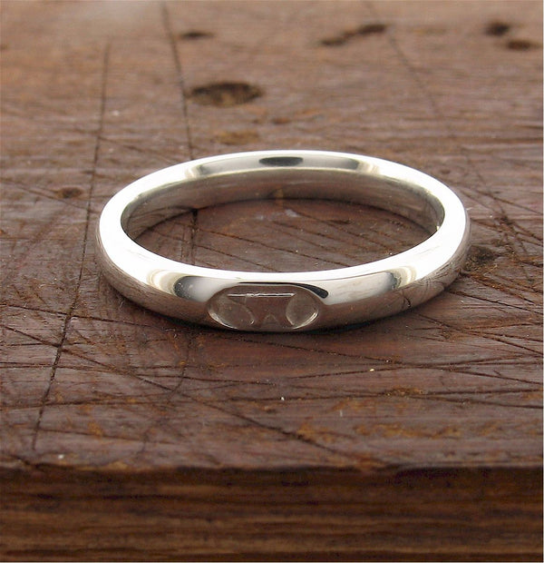 3mm silver Gretna Green wedding ring