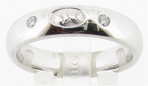 9ct white gold diamond set 6mm Wedding Ring