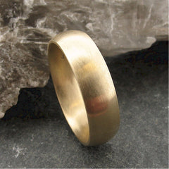 Gold wide court wedding ring. - Gretna Green Rings