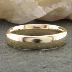 Gold narrow court wedding ring. - Gretna Green Rings