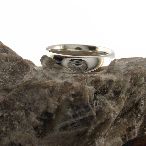 Platinum wedding ring 5mm to 6mm Gretna Green medium court - Gretna Green Rings