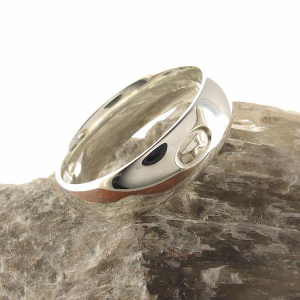 Platinum wedding ring 7mm to 8mm Gretna Green mens wide court - Gretna Green Rings