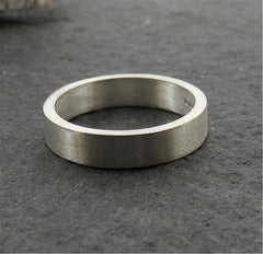 Silver narrow flat wedding ring - Gretna Green Rings