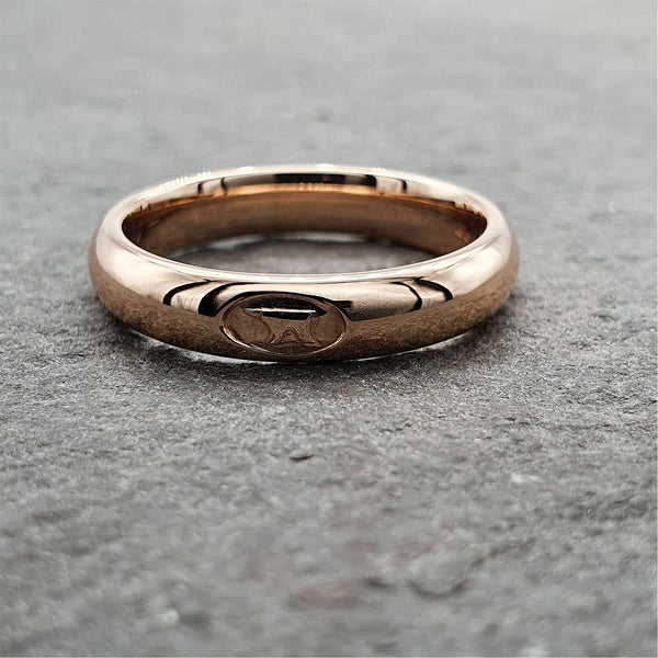 Anvil narrow rose gold wedding ring - Gretna Green Rings
