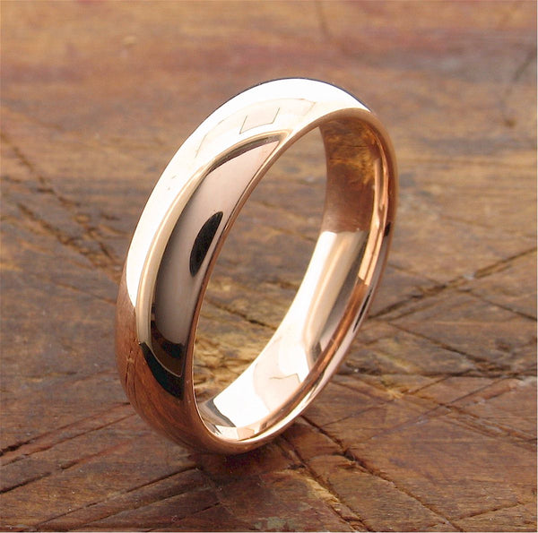Rose gold wide court wedding ring. - Gretna Green Rings