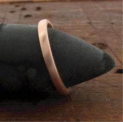 Rose gold narrow court wedding ring. - Gretna Green Rings