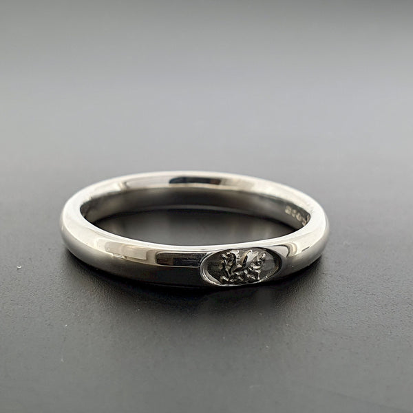 Welsh narrow white gold wedding ring - Gretna Green Wedding Rings