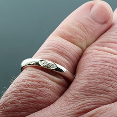 Welsh narrow white gold wedding ring - Gretna Green Rings