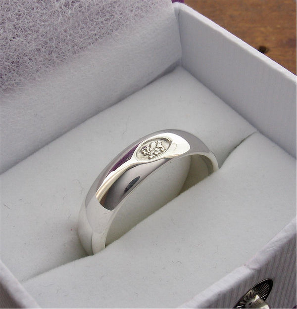 Welsh wide silver wedding ring - Gretna Green Rings