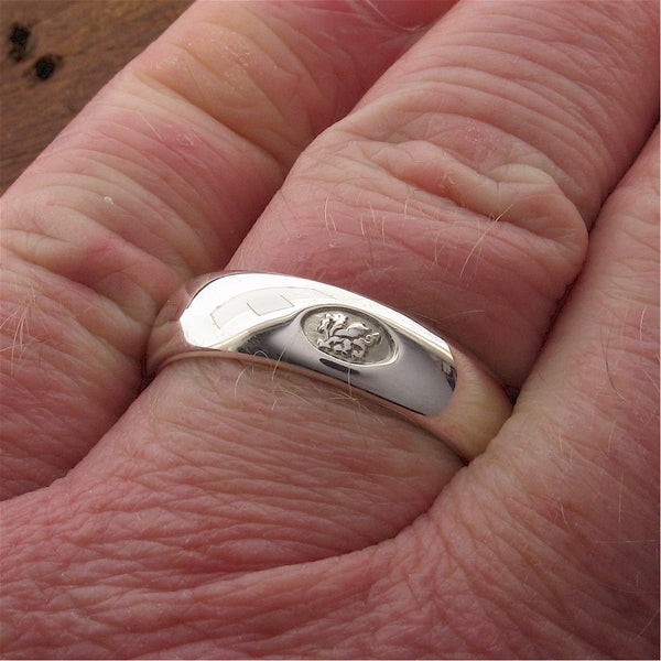 Welsh wide platinum wedding ring - Gretna Green Wedding Rings