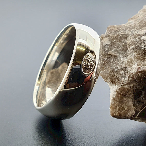Welsh wide silver wedding ring - Gretna Green Wedding Rings