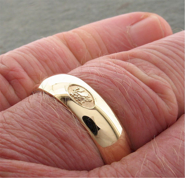 Welsh wide gold wedding ring - Gretna Green Rings